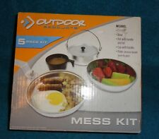 5 Piece Mess Kit-New-Great for Camping or Hiking-Includes:Pan,Bowl,Pot,Cup,Plate