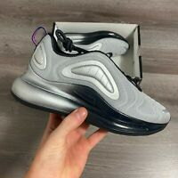 NIKE AIR MAX 720 GS SILVER TRAINERS SHOES SIZE UK4.5 US5Y EUR37.5 AQ3196-012