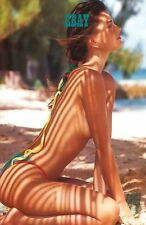 Hot Girl SEXY PHOTO Paulina Porizkova HOTTIE bare legs n belly BAREFOOT Cheeky