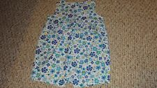 NEW BABY GIRL BLUE FLORAL PRINT COTTON ROMPER SIZE 24 MONTHS BY N-KIDS