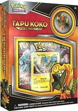 Tapu Koko Pin Collection Box Pokemon TCG - NEW - Factory Sealed - Free Shipping