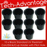 10 X STANDARD SIZE RECESSED BLACK DRINK/CUP/CAN/STUBBIE HOLDER MARINE BOAT YACHT