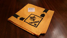 Cub Scouts WOLF Official Uniform Scarf Neckerchief New with Sticker
