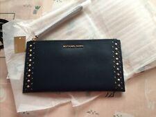 brand new michael kors Leather ZIP Clutch Bag