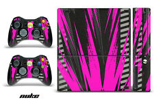 Skin Decal Wrap for Xbox 360 E Gaming Console & Controller Sticker Design NUKE