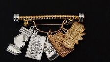 Mary Kay Gold Toned Pin Brooch With Charms