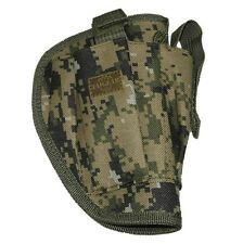 Woodland Camo Right Hand Gun Belt Holster w/ Clip Pouch BB Airsoft Pistol 200WR