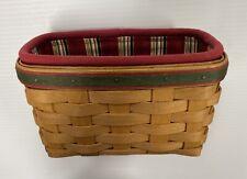 New ListingLongaberger Holiday Helper Basket Set Plastic Protector Stripe Liner Christmas