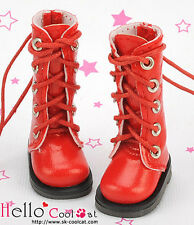 ☆╮Cool Cat╭☆【13-16】Blythe Pullip Doll Shoes Boots # Shiny Red