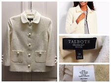 Great condition Off White Talbots Blazer Jacket  Size 2P Wool Blend