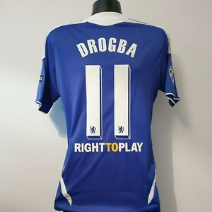 DROGBA 11 Chelsea Shirt - Small - 2011/2012 - Champions League Adidas Jersey