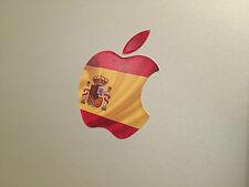 "Spain / Spanish Flag Apple Logo Decal Sticker for Apple MacBook 13"" 15"""