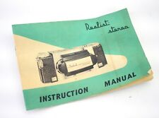 Late Stereo Realst Custom camera instructions original