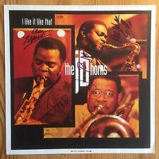 The James Brown Horns Maceo Parker Pee Wee Ellis Fred Wesley Signed Vinyl LP