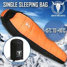 Outdoor Camping Sleeping Bag Thermal Tent Hiking Winter Compact Orange -15°C