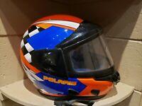 POLARIS / BELL Snowmoibile Racing Helmet Full Face Shield DOT  (Made In Italy)