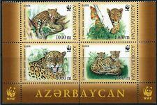 AZERBAIJAN -2005 WWF 'CAUCASUS LEOPARD' Block of 4 MNH [A1771]