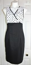 Womens ALYX Limited Black & White Polka Dot Ruffle top sleeveless dress size 6