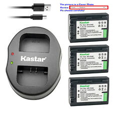 Kastar Battery Dual Charger for Sony NP-FH50 Sony DSLR-A230Y DSLR-A290 DSLR-A330