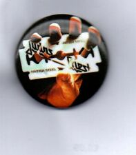 JUDAS PRIEST British Steel BUTTON  BADGE - ENGLISH HEAVY METAL BAND - ROCK 25mm