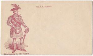 Civil War Patriotic Envelope - 79th N.Y. Regiment Scotchmen for the Union