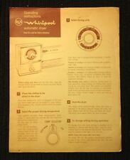 Vintage~Whirlpool~Operating Instructions~Whirlpool Automatic Dryer