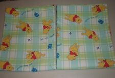 Winnie the Pooh Gotta Bee Me Twin Coverlet Quilt Plaid Huney Pot Green Blue