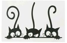 "Cat Kitty Decals Wall Stickers Mural Art Bedroom Nursery Office 12.00"" X 7.85"""