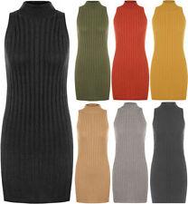 Vestiti da donna nero acrilico senza maniche