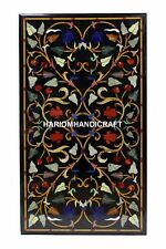 Traditional Black Marble Dining Top Inlay Arts Restaurant Decorative Table H3329