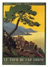 FRENCH VINTAGE POSTER 50x70cm CORSICA TOUR France