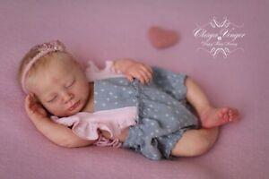 "Sage Sleeping *Realborn ~ 18"" Vinyl Reborn Doll Kit/COA ~ by Bountiful Baby"
