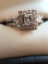 Engagement Princess Diamond Ring 1 CTW GORGEOUS!! 14K WG size 7.5