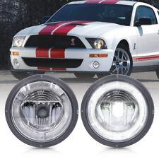 White LED Daytime Running Fog Light for 07-09 Ford Mustang Shelby GT500 Halo DRL