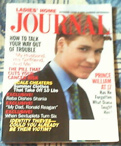 Ladies Home Journal magazine with Prince William on cover: June 1999 DISCOUNTED!