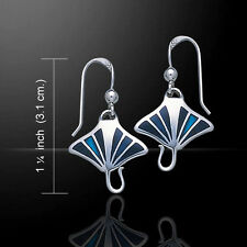Manta Ray Earrings .925 Sterling Silver by Peter Stone Jewelry