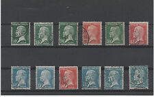 FRANCE 1923-1926. TYPE PASTEUR. LOT DE 12 TIMBRES OBLITERES. Y&T N°170 au 181.