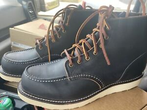 NEW Red Wing Heritage  Moc 6-Inch 8849 Black Leather Boots 11D Factory Seconds