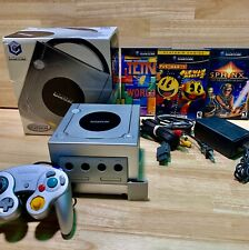Limited Edition Platinum Nintendo GameCube Console In Box 3 Games - Works Great!