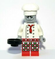 LEGO Zombie Monster Chef Minifigure With Frying Pan Cook Baker Halloween