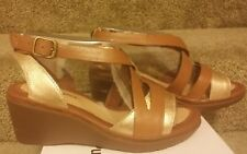Hush Puppies Rory Russo Women's Wedge Sandals Size 6.5 Wide New Sandal Heel 7