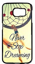 Dream Catcher Quote Black Case Samsung Galaxy or Note Models Rubber/Hard Cover