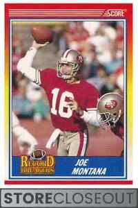 1990 Score #594 Joe Montana Record Breakers San Francisco 49ers HOF
