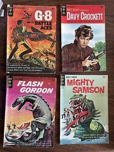 Lot of 9 Gold Key Comics (Flash Gordon, Sindbad, Davy Crockett, Donald Duck)