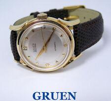 Vintage 14k GRUEN PRECISION 17J Mens Automatic Watch Cal 480SS c.1950s* EXLNT