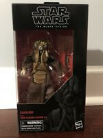 "Star Wars Black Series 6"" Zuckuss Toys R Us Exclusive New In Box"