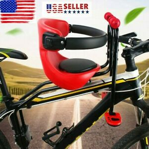 Greensen Kid Bike Seat,Front Mount Child Bike Seat Bicycle Front Chair Toddle Bicycle Child Seat for Adult Electric Bicycle Mountain Bike Adjustable Seat and Pedal,Two-Point Fixed