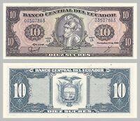 Ecuador 10 Sucres 1988 p121 unz.