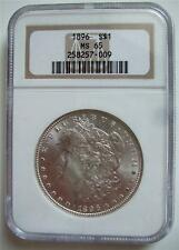 1896 NGC MS 65 Morgan Silver dollar Blast White
