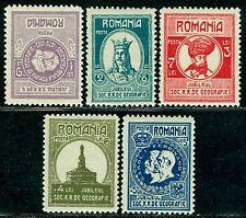 1927 Royal Geographical Soc.,King Carol I,Ferdinand,Adam Clisi,Romania,M.303,MNH